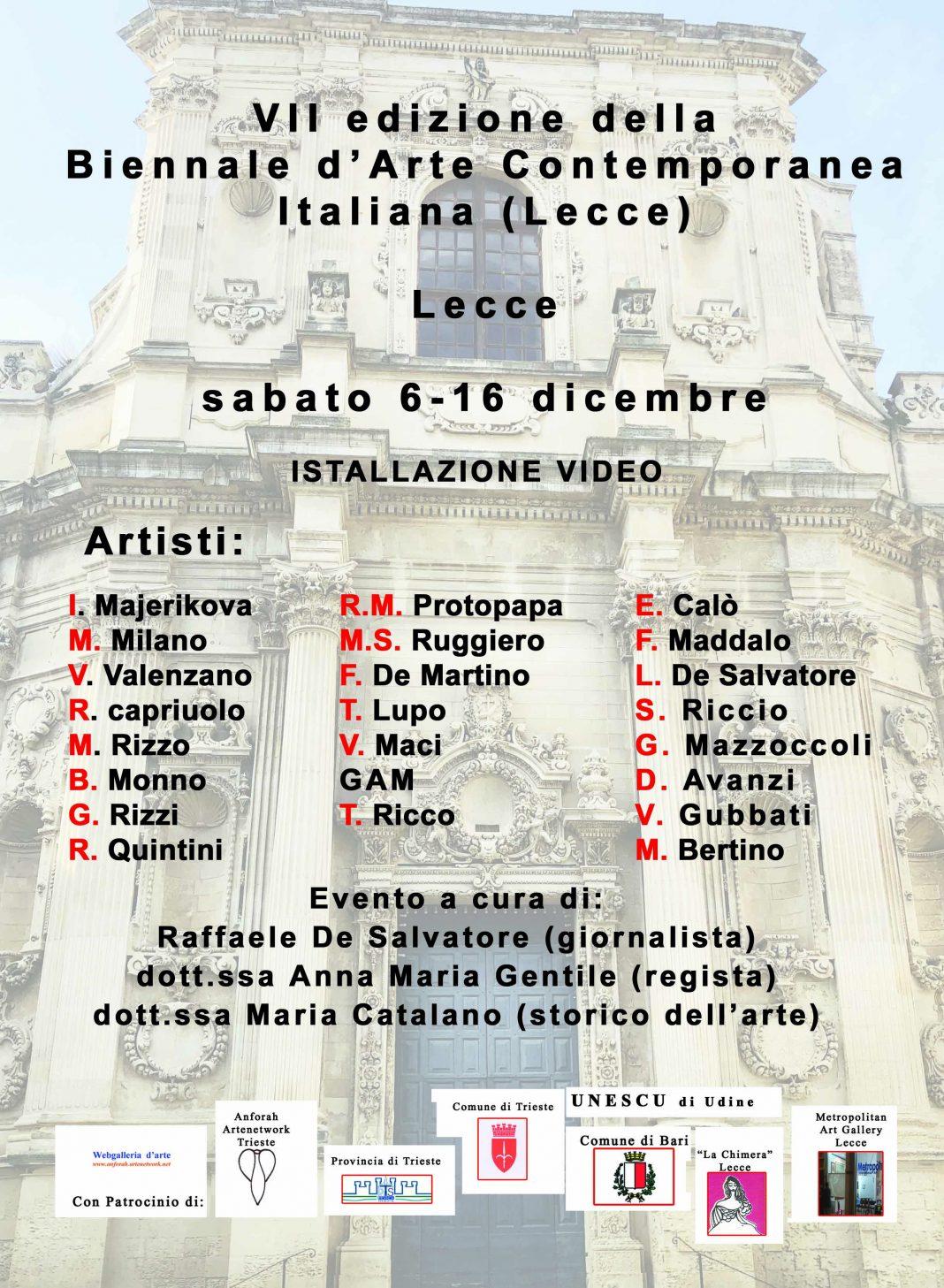 VII ed. Biennale d'Arte Contemporanea Lecce (2020)