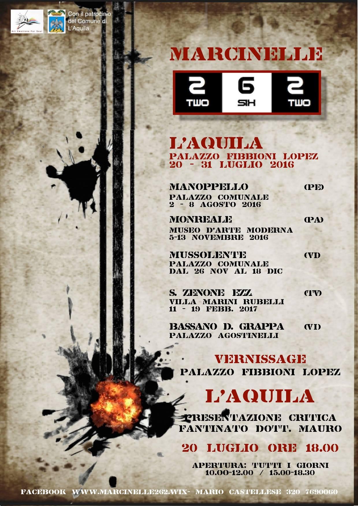 Marcinelle 262, mostra itinerante (2016)