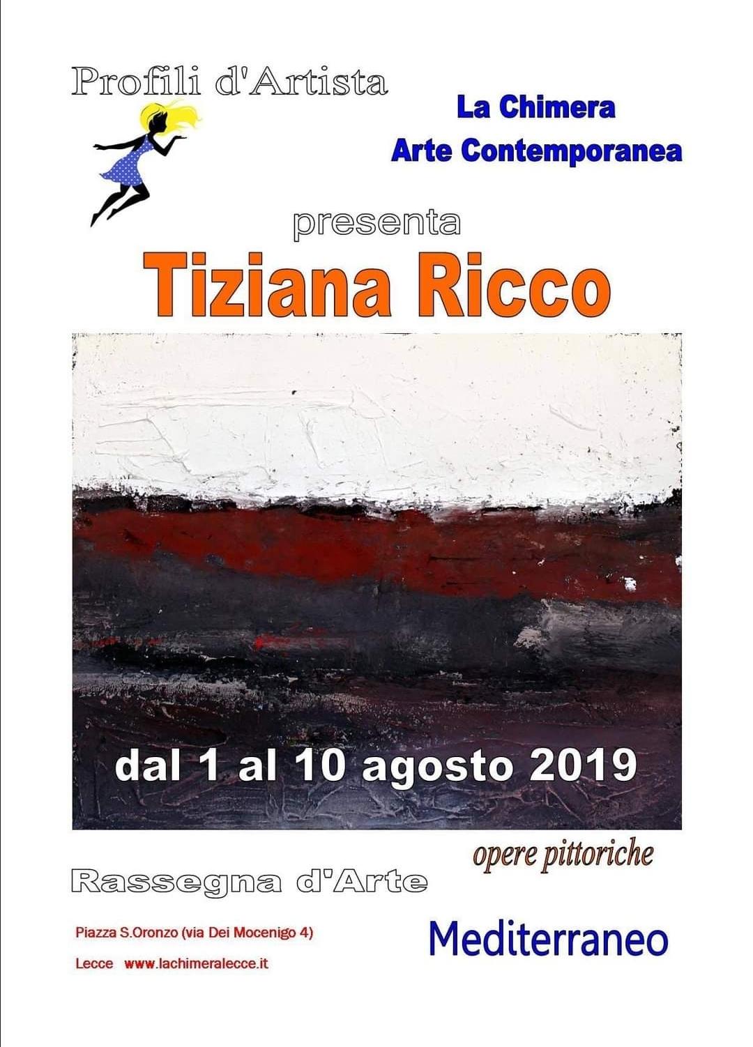 Mostra personale Profili d'Artista – Galleria La Chimera (2019)